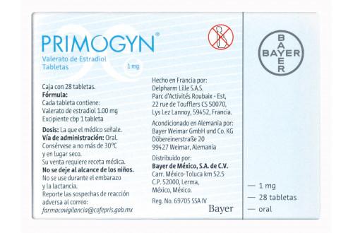 Comprar-Primogyn-1-mg-28-tabletas-Bayer-Tienda-Mexico-DF-Precio-7703331157001