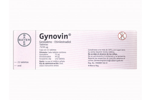 Comprar-Gynovin-75-30-ug-21-tabletas-Bayer-Tienda-Mexico-DF-Precio-7896116880611