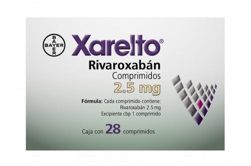 Comprar-Xarelto-2.5-mg 28-Comprimidos-Bayer-Tienda-Mexico-DF-Precio-7501318655850